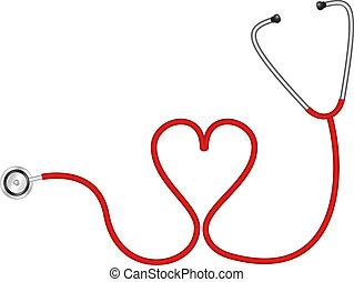 сердце, стетоскоп, форма