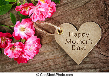 сердце, фасонный, день, карта, mothers