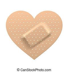 сердце, форма, штукатурка