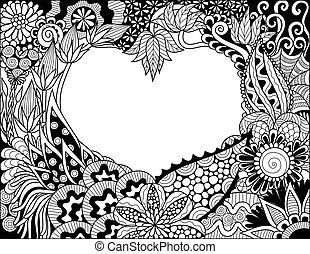 сердце, цветочный