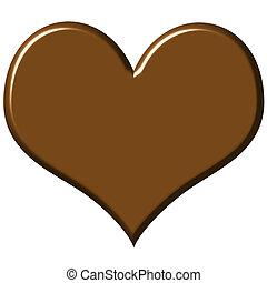 сердце, шоколад