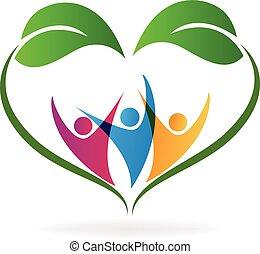 сердце, экология, люблю, люди, leafs, логотип