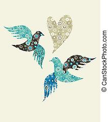 сердце, doves, два