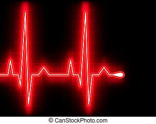 сердце, ekg, graph., eps, beat., 8, красный