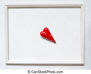 сердце, frame., stains, марочный, символ, покрасить, задний план, белый, красный