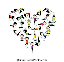 сердце, yoga!, форма, дизайн, люблю, ваш