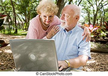 серфинг, интернет, seniors