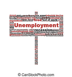 символ, белый, isolated, задний план, безработица
