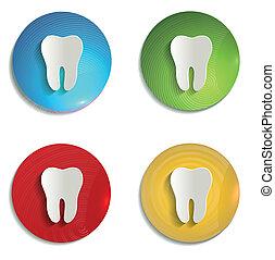 символ, бумага, задавать, красочный, зуб