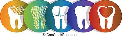 символ, задавать, зуб