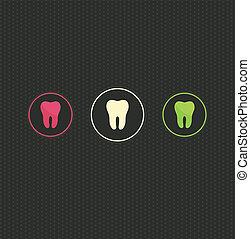 символ, задний план, зуб