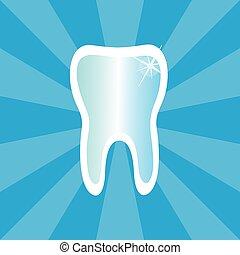 символ, зуб, лечение, зубоврачебный, значок