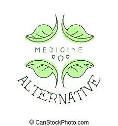 символ, иллюстрация, вектор, лекарственное средство, логотип, альтернатива