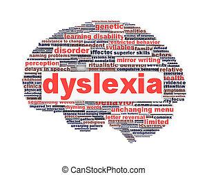 символ, концепция, расстройство, дислексия, isolated