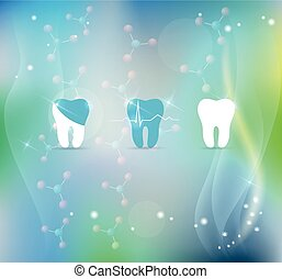 символ, лечение, задний план, teeth