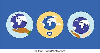 символ, сердце, руки, земля, родина, человек, показ, люблю, наш