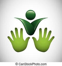 символ, экология, isolated, значок