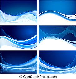 синий, абстрактные, задавать, задний план, вектор