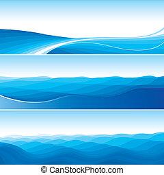 синий, абстрактные, задавать, backgrounds, волна
