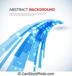 синий, абстрактные, перемещение, задний план