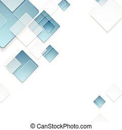 синий, абстрактные, тек, дизайн, геометрический, squares