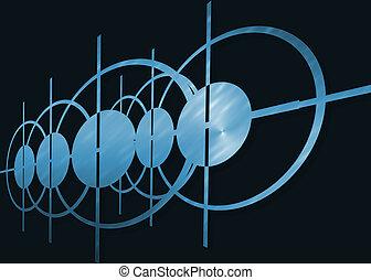 синий, абстрактные, черный, задний план