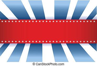 синий, американская, флаг, белый, дизайн, красный
