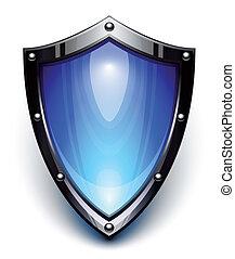 синий, безопасность, щит