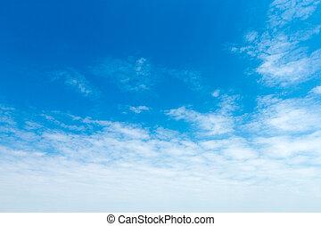синий, белый, небо, clouds.