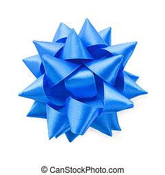 синий, белый, isolated, задний план, лук