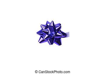 синий, белый, isolated, лук