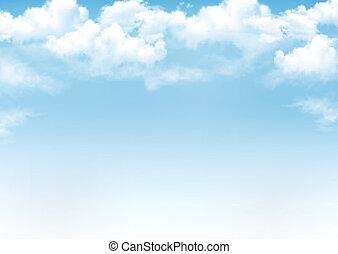 синий, вектор, небо, задний план, clouds.