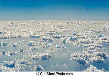 синий, верхний, layers, небо, clouds, atmosphere.