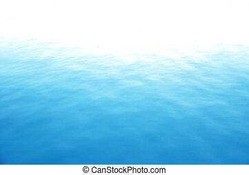 синий, воды, все еще, море, поверхность