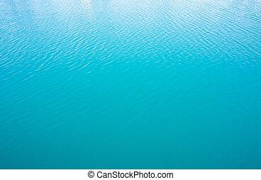 синий, воды, море, поверхность, спокойный