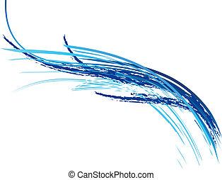 синий, волна
