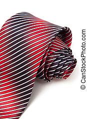 синий, галстук, белый, красный, задний план