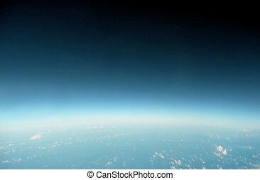 синий, горизонт