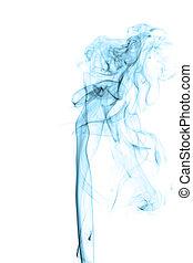синий, задний план, абстрактные, isolated, дым, белый