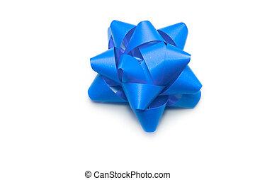 синий, задний план, isolated, лук, белый
