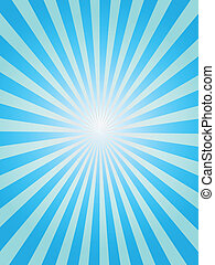 синий, задний план, sunray