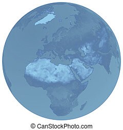 синий, земной шар