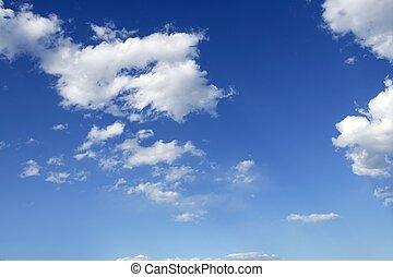 синий, идеально, clouds, небо, солнечно, дневное время, белый