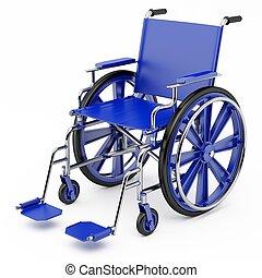 синий, инвалидная коляска
