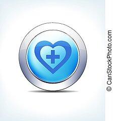 синий, кнопка, вектор, плюс, олень-самец, значок