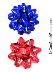 синий, красный, лук