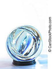 синий, кристалл, мяч, в, lights