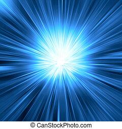 синий, легкий, взрыв