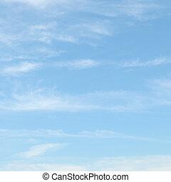 синий, легкий, clouds, небо