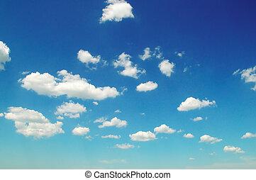 синий, легкий, clouds, sky.